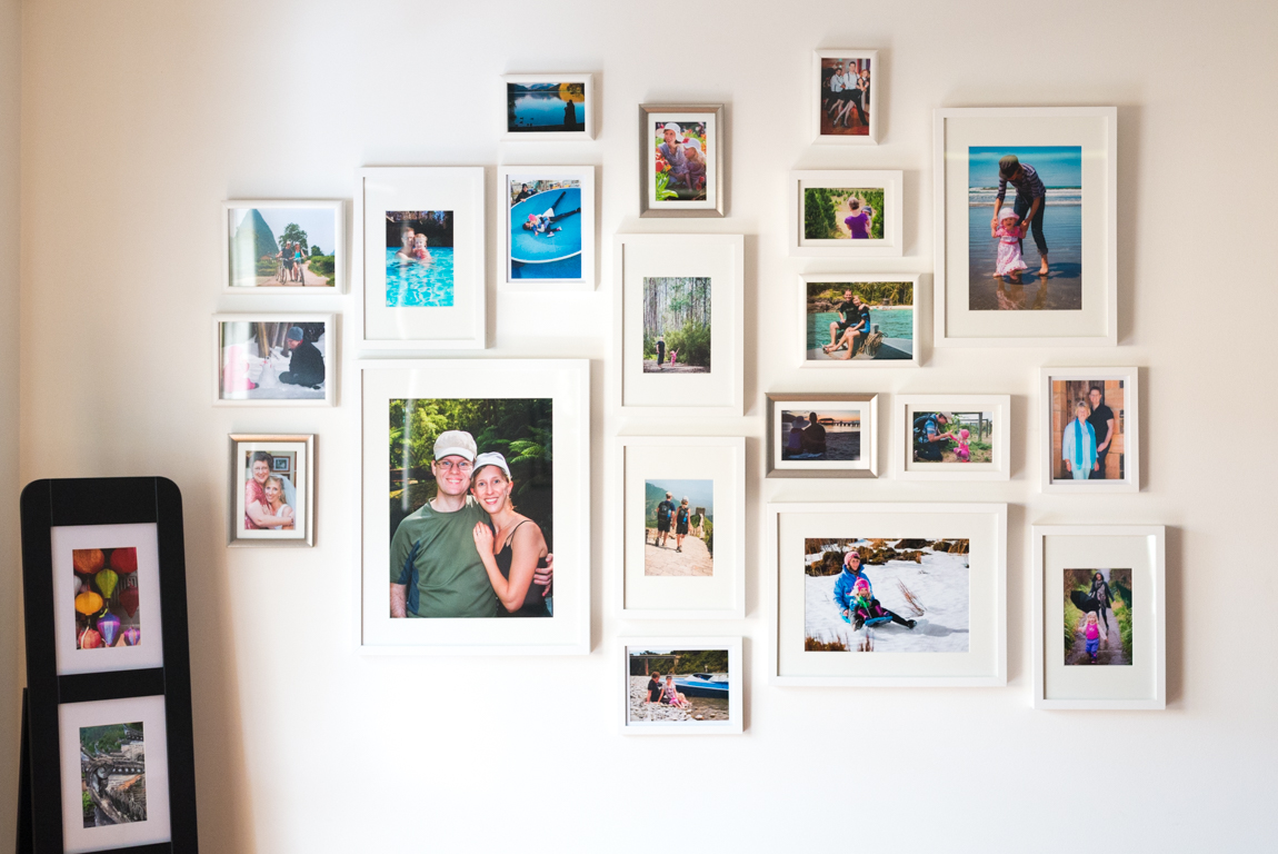 organic wall gallery using Target and Ikea frames